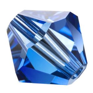 Sapphire Preciosa crystal bicone bead