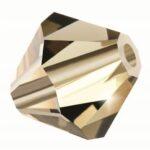 Black Diamond Preciosa crystal bicone bead