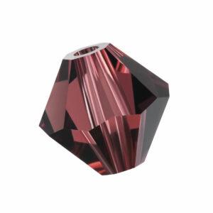 Burgundy Preciosa crystal bicone bead