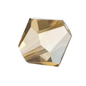 crystal golden flare Preciosa crystal bicone bead
