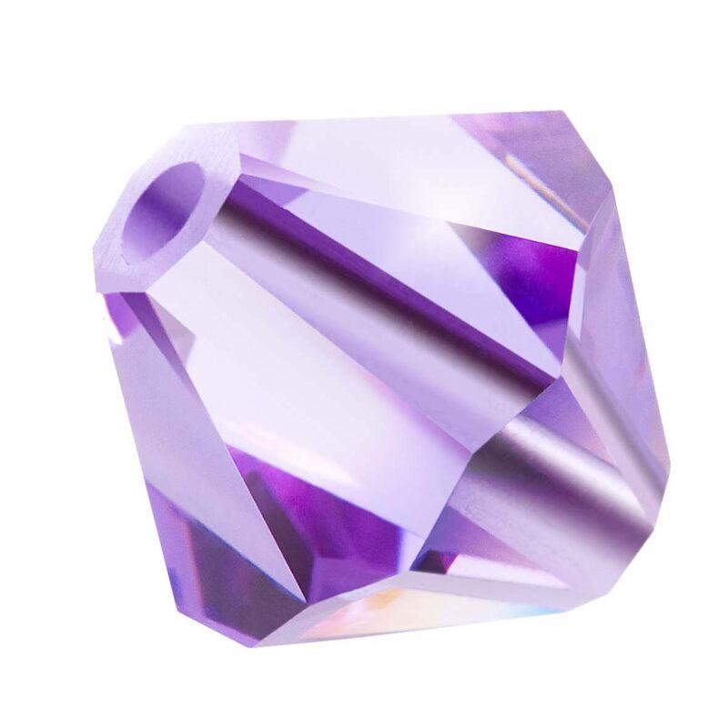 Violet Preciosa crystal bicone bead