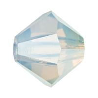 White Opal Preciosa crystal bicone bead