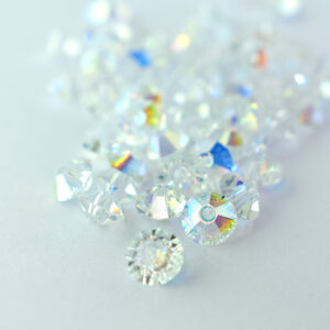 3x5 crystal ab preciosa crystal spacer bead