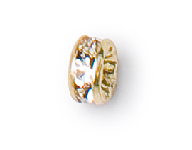 4.5mm preciosa crystal gold plated rondelle