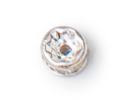 4.5mm preciosa crystal silver plated rondelle
