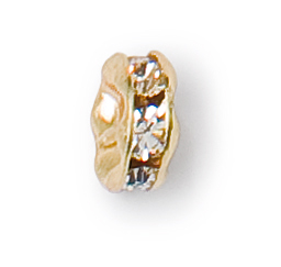 6mm preciosa crystal gold plated rondelle