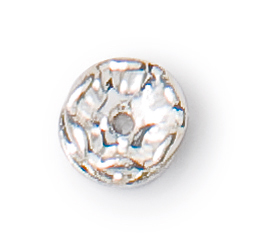 6mm preciosa crystal silver plated rondelle