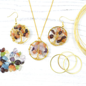 Tree of Life Jewellery Set Gold Plated