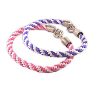 Kumihimo bracelets warm examples