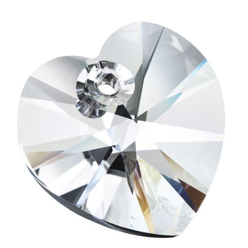 10mm Preciosa Crystal Heart Pendant
