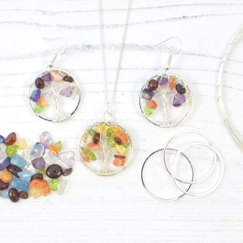 Tree of Life Jewellery Set Silver Plated
