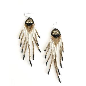 Deco Rainbow Fringe Earrings