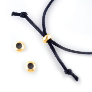 2mm gold plated slide clasp