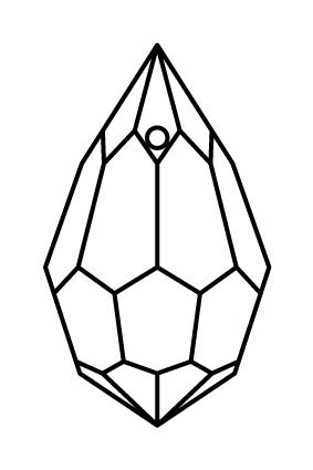 Preciosa Crystal Drop Pendant 6 x 10mm
