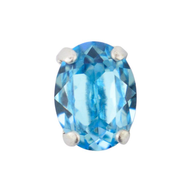 Aqua Bohemica oval slider crystal stone
