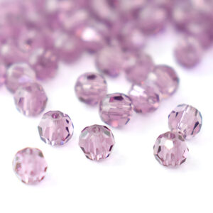 Round Faceted Crystal Beads