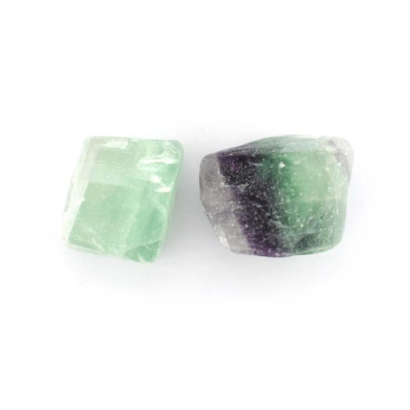 rainbow fluorite gemstone nugget beads