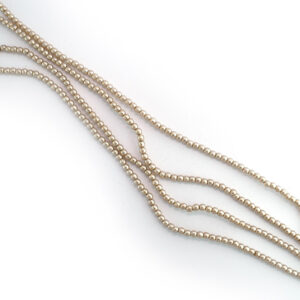 2mm czech glass champagne pearl beads