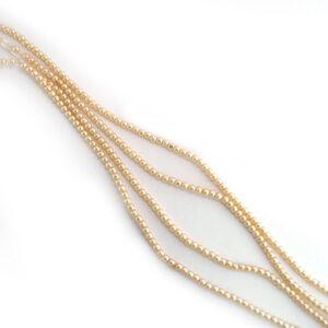 2mm cream czech glass pearl beads