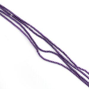 2mm purple czech glass pearl beads