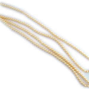 3mm cream czech glass pearl beads