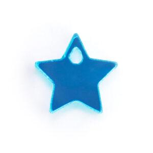 blue acrylic star charm
