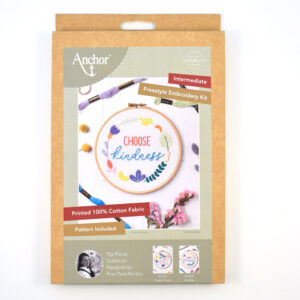 choose kindness anchor embroidery kit
