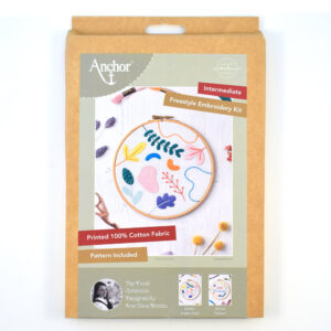 floral anchor embroidery kit