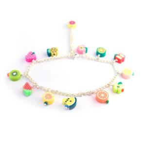 Fruit salad charm anklet or bracelet