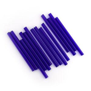 preciosa 40mm royal blue glass tube beads