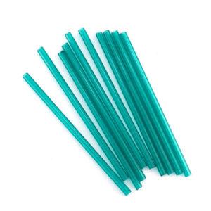 preciosa 40mm teal glass tube beads