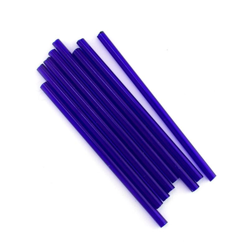 preciosa 60mm royal blue glass tube beads