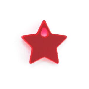 red acrylic star charm