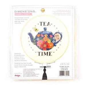 tea time cross stitch kit