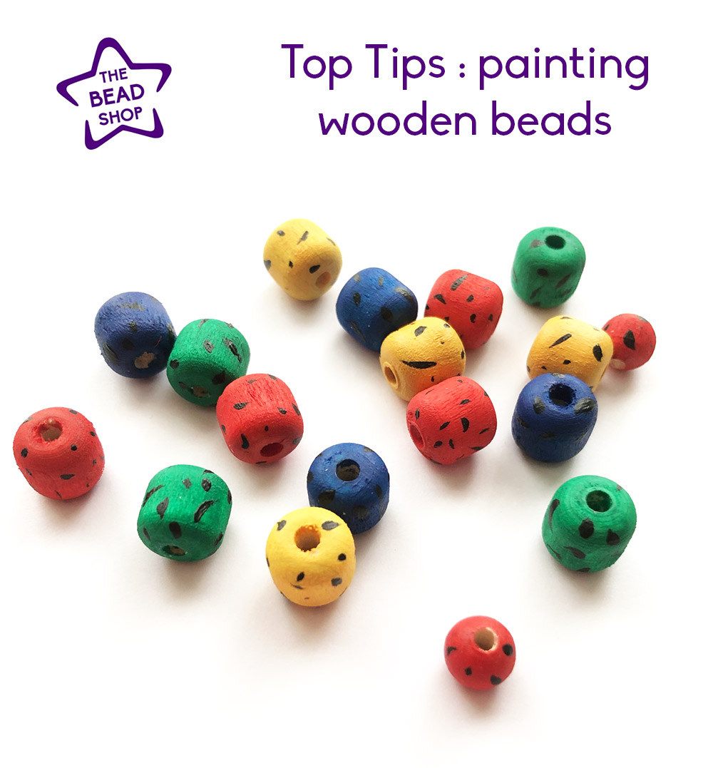 Top Tips for painting wooden beads - The Bead Shop Nottingham