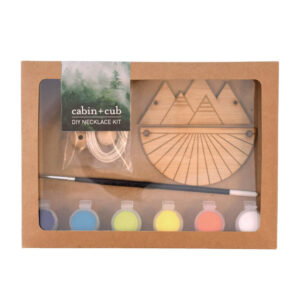 DIY Mountain and Sunrays Necklace Kit by Cabin+Cub