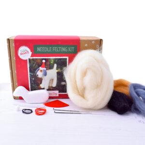 christmas dog needle felting kit