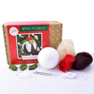 christmas pudding needle felting kit