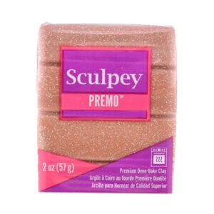 Sculpey Premo 2oz Rose Gold Glitter