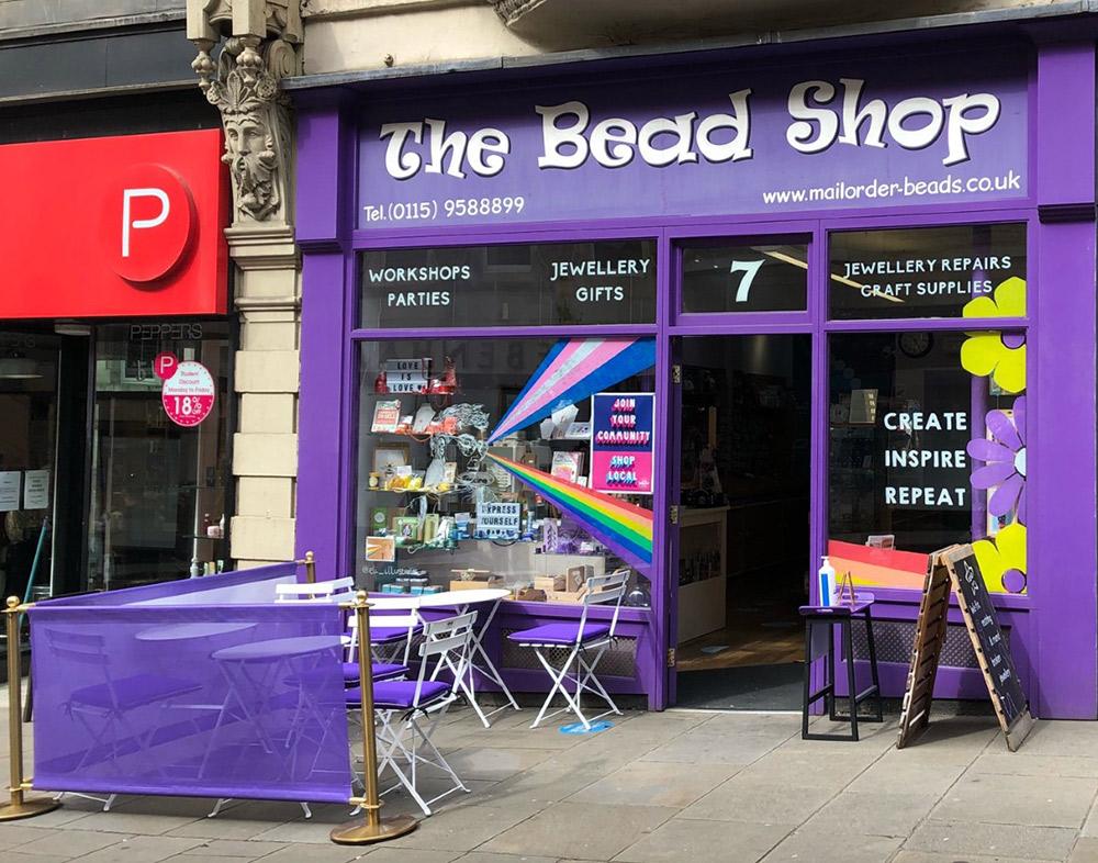 Café area at The Bead Shop