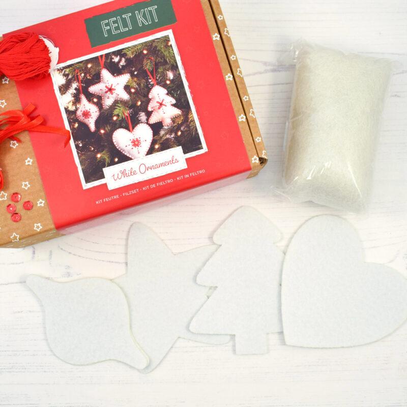 christmas ornaments felt kit contents