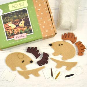 felt hedgehog kit contents