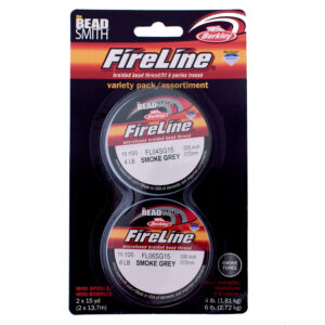 FireLine 4LB & 6LB Smoke Grey (15 yrd reel) Twin Pack