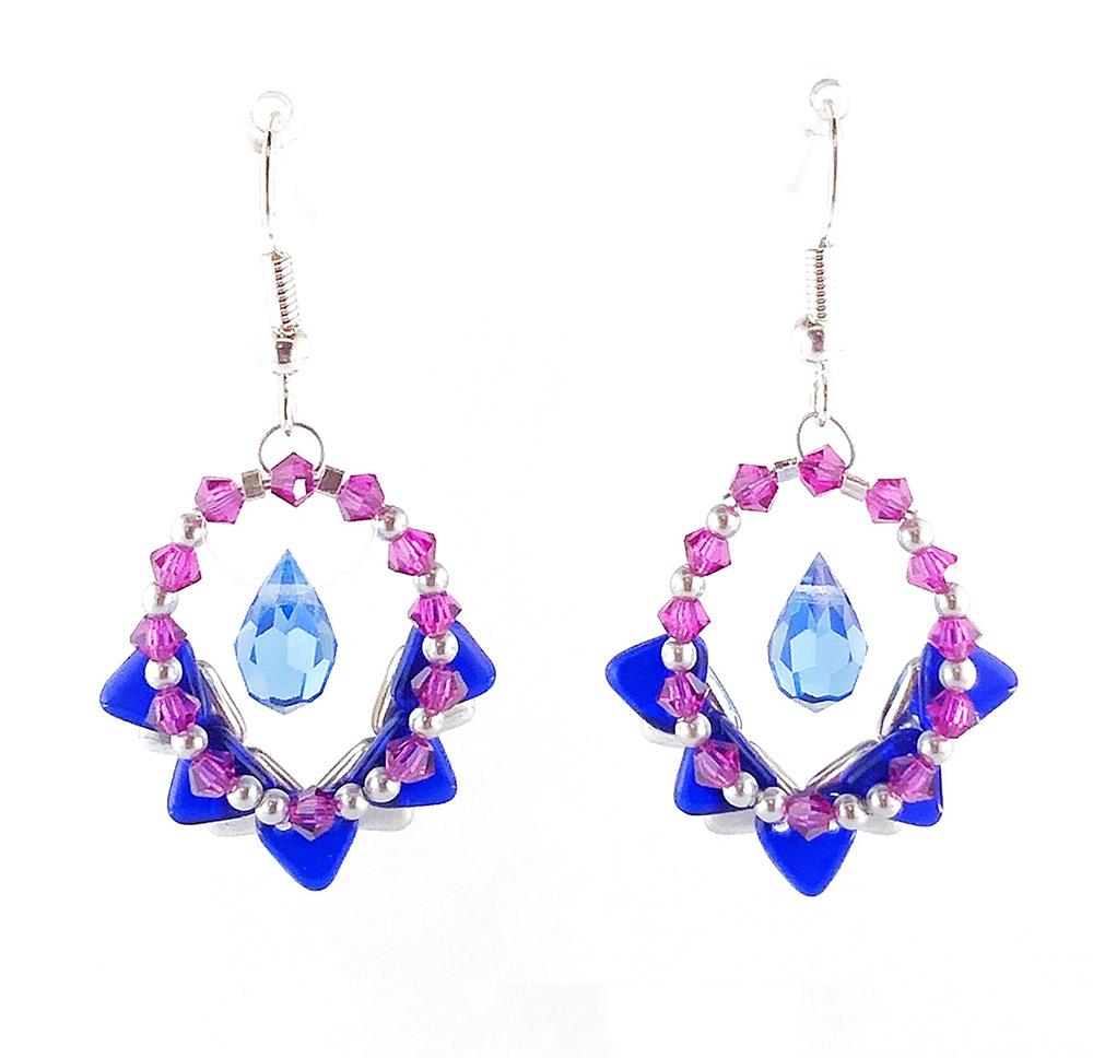 Framed Drop Earrings