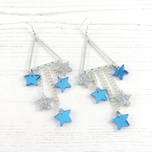 Star of the Show Earrings - Blue & Silver
