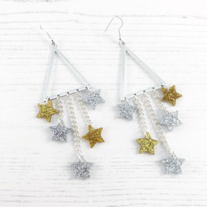 Star of the Show Earrings - Silver & gold