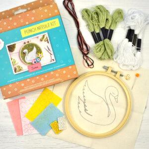 Punch Needle Kit Swan