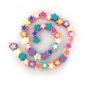Polymer Clay Star Beads